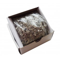 Safety Pins ECONOMY - 19mm - nickled - 1728pcs/box (loose)