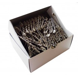 Safety Pins ECONOMY - 47mm - nickled - 864pcs/box (11/12 - in bunches)