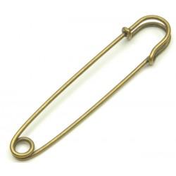 """Safety Pins Decorative """"Kilt"""" - 102mm - old brass - 1pcs"""