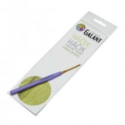 Crochet hook with plastic handle - 14cm - 2,00mm - 1pcs/polybag
