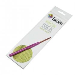Crochet hook with plastic handle - 14cm - 3,00mm - 1pcs/polybag