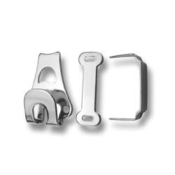 Steel Trouser Hooks 40314 - nickled - 1gros(144pcs)/box